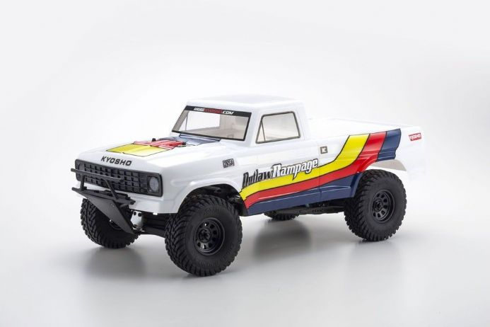 OUTLAW RAMPAGE 1:10 EP 2WD TRUCK (KT231P) T2 WHITE READYSET